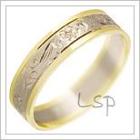 Snubní prsteny LSP 1267 kombinované zlato