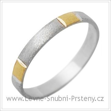 Snubní prsteny LSP 1268 kombinované zlato