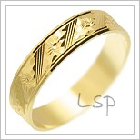 Snubní prsteny LSP 1269 žluté zlato