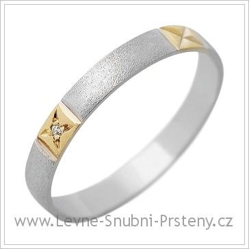 Snubní prsteny LSP 1271 kombinované zlato