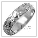Snubní prsteny LSP 1272b bílé zlato