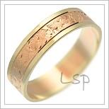 Snubní prsteny LSP 1273 kombinované zlato