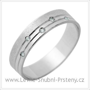 Snubní prsteny LSP 1274 bílé zlato