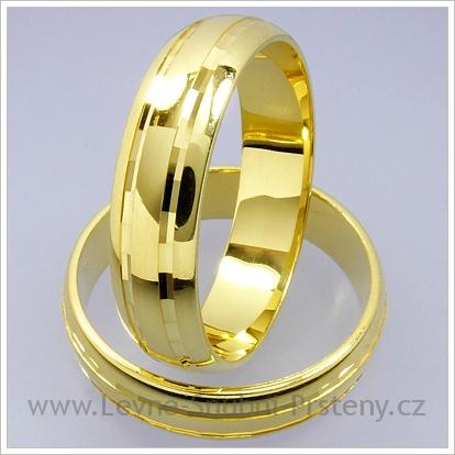 Snubní prsteny LSP 1275 žluté zlato