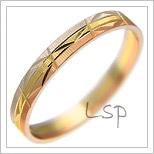 Snubní prsteny LSP 1276 kombinované zlato