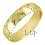 Snubní prsteny LSP 1282 žluté zlato