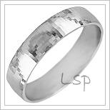 Snubní prsteny LSP 1282b bílé zlato
