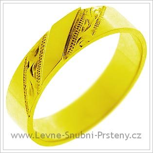 Snubní prsteny LSP 1283 žluté zlato
