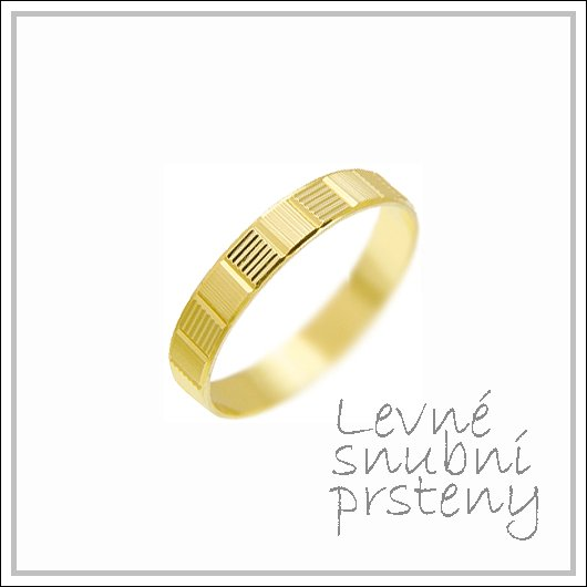 Snubní prsteny LSP 1286 žluté zlato