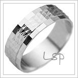 Snubní prsteny LSP 1287b bílé zlato