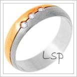 Snubní prsteny LSP 1289 - kombinované zlato