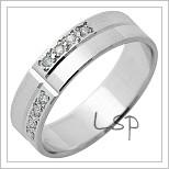 Snubní prsteny LSP 1290 bílé zlato