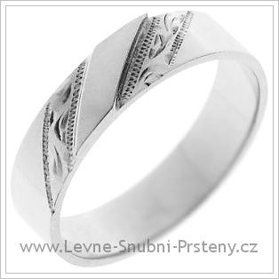 Snubní prsteny LSP 1291 bílé zlato