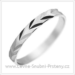 Snubní prsteny LSP 1292 bílé zlato