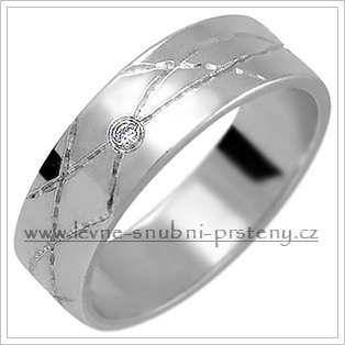 Snubní prsteny LSP 1295b bílé zlato