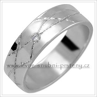 Snubní prsteny LSP 1295bz bílé zlato