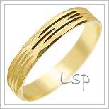 Snubní prsteny LSP 1296 žluté zlato