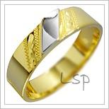 Snubní prsteny LSP 1297 kombinované zlato