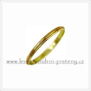Snubní prsteny LSP 1298 kombinované zlato