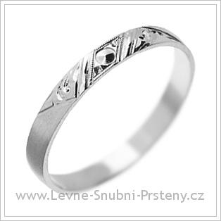 Snubní prsteny LSP 1300 bílé zlato