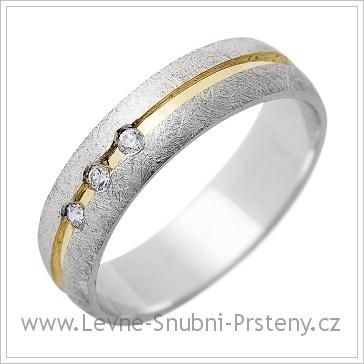 Snubní prsteny LSP 1301 dvojí zlato