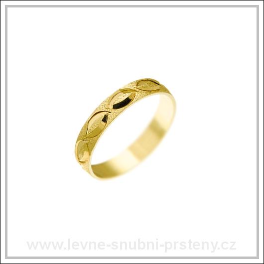 Snubní prsteny LSP 1303 žluté zlato