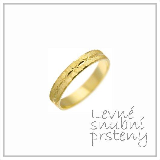 Snubní prsteny LSP 1304 žluté zlato