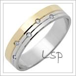 Snubní prsteny LSP 1310 kombinované zlato