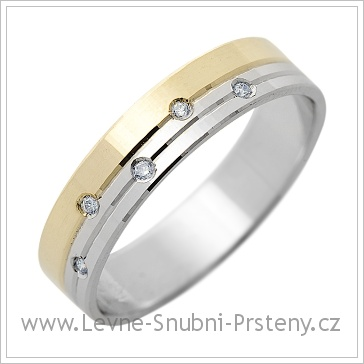 Snubní prsteny LSP 1310 bílé a žluté zlato