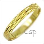 Snubní prsteny LSP 1311 žluté zlato