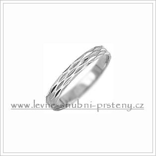 Snubní prsteny LSP 1311b bílé zlato