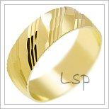 Snubní prsteny LSP 1312 žluté zlato