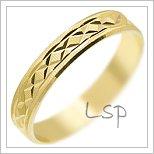 Snubní prsteny LSP 1313 žluté zlato