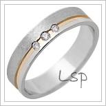 Snubní prsteny LSP 1315 kombinované zlato