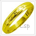 Snubní prsteny LSP 1316 žluté zlato