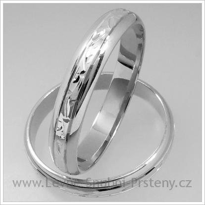 Snubní prsteny LSP 1317 bílé zlato