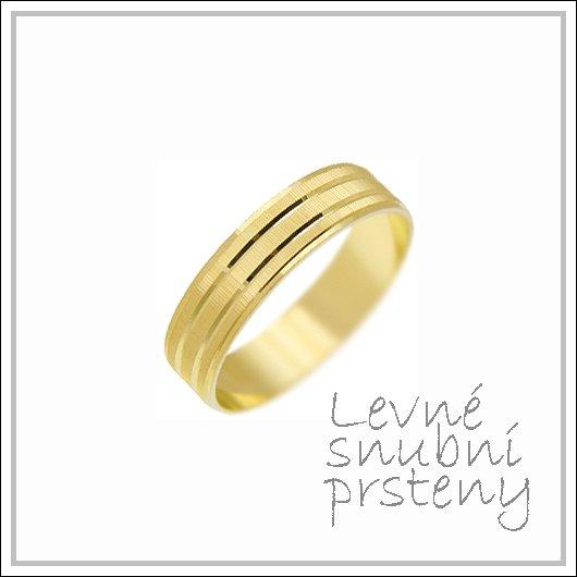 Snubní prsteny LSP 1318 žluté zlato