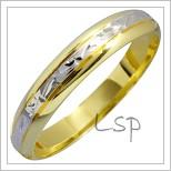 Snubní prsteny LSP 1320 kombinované zlato