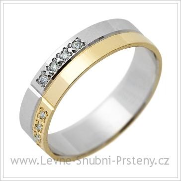 Snubní prsteny LSP 1321 kombinované zlato