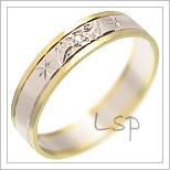 Snubní prsteny LSP 1322 kombinované zlato