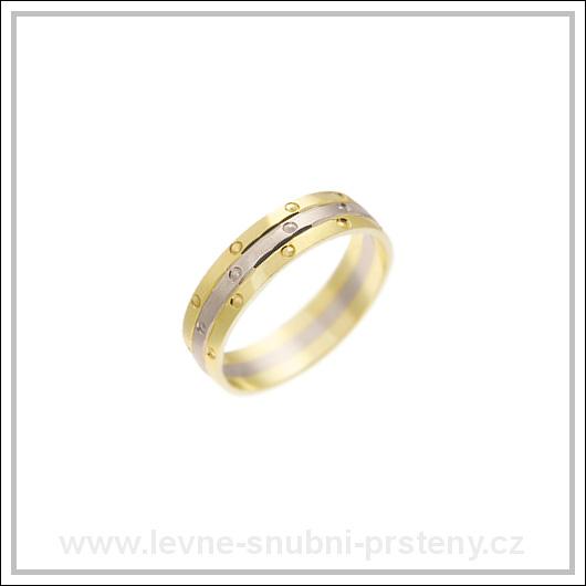 Snubní prsteny LSP 1323 kombinované zlato