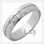 Snubní prsteny LSP 1326 bílé zlato