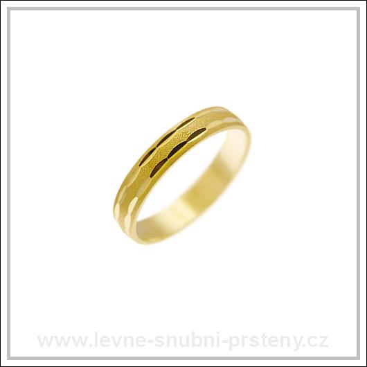 Snubní prsteny LSP 1333 žluté zlato