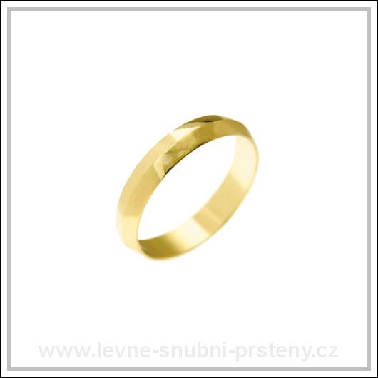 Snubní prsteny LSP 1334 žluté zlato
