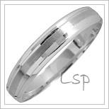 Snubní prsteny LSP 1338 bílé zlato