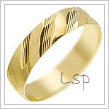 Snubní prsteny LSP 1339 žluté zlato