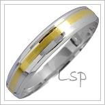 Snubní prsteny LSP 1340 kombinované zlato