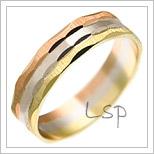 Snubní prsteny LSP 1343 kombinované zlato