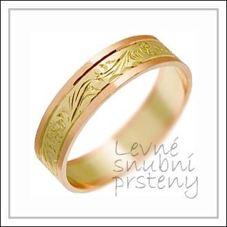 Snubní prsteny LSP 1344 kombinované zlato