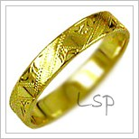 Snubní prsteny LSP 1346 žluté zlato